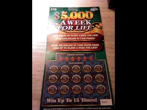 Florida Scratch Off $10 5,000 A Week For Life by jose rios