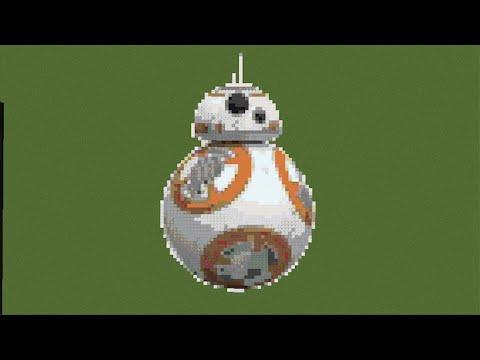 Minecraft Pixel Art Timelapse Bb 8 Droid Star Wars