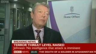 Home Office raises current terrorism threat level to