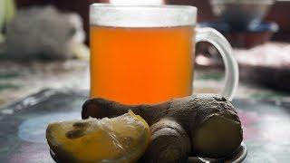 Вкусный чай с имбирем и лимоном
