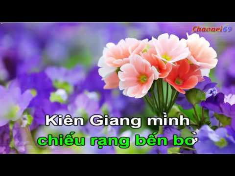 Kien Giang Minh Dep Lam   Karaoke   Beat   Quang Linh