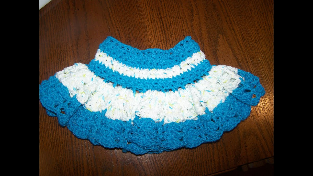 video 2 crochet baby girl frilly skirt - YouTube