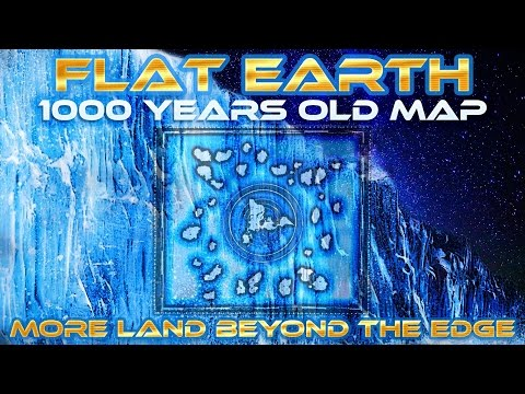 FLAT EARTH - 1000 YEARS OLD MAP Shows MORE Land Beyond ANTARTICA Edge/Ice Wall - Honolulu Map