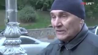 Ватний журналіст спробував взяти інтерв'ю у чоловіка з Донецька Дивимося що з е