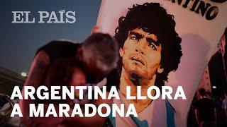 MARADONA | ARGENTINA llora la MUERTE de su ídolo
