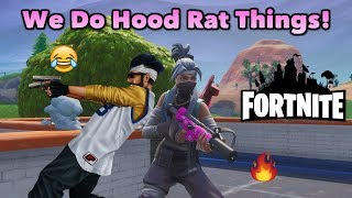 Fortnite Duos With My Hood Rat Friend Tyrone! His E-Girl Date GOES WRONG!