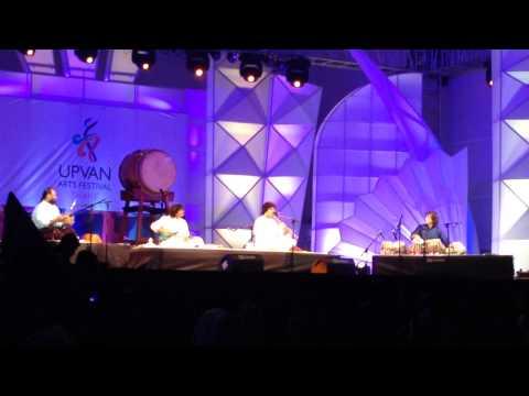 Ustad Zakir Hussain, Rakesh Chaurasia, Selva Ganesh, U Srinivas and Leonard Eto at Upvan