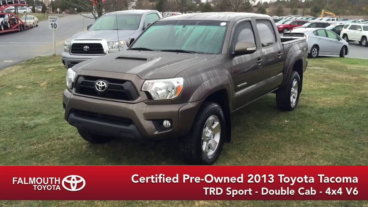 certified 2013 toyota tacoma trd sport double cab for sale at falmouth toyota bourne ma cape. Black Bedroom Furniture Sets. Home Design Ideas