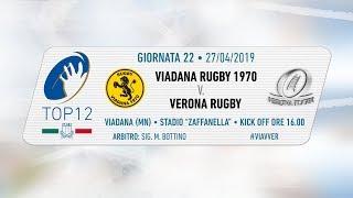 TOP12 2018/19, Giornata 22 - Viadana Rugby 1970 v Verona Rugby