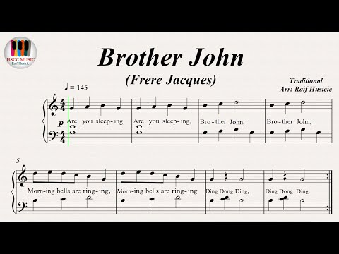Brother John (Frere Jacques), Piano