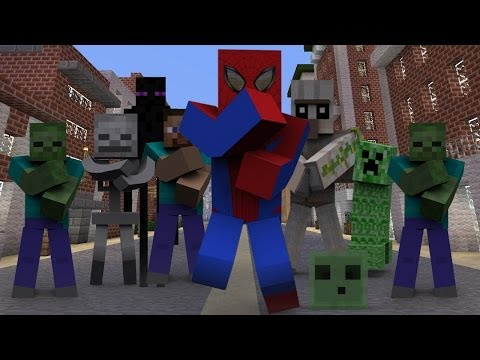 SPIDERMAN MINECRAFT STYLE REMIX 2013  PSY(싸이) GANGNAM STYLE(강남스타일)PARODY VIDEO(젠틀맨)