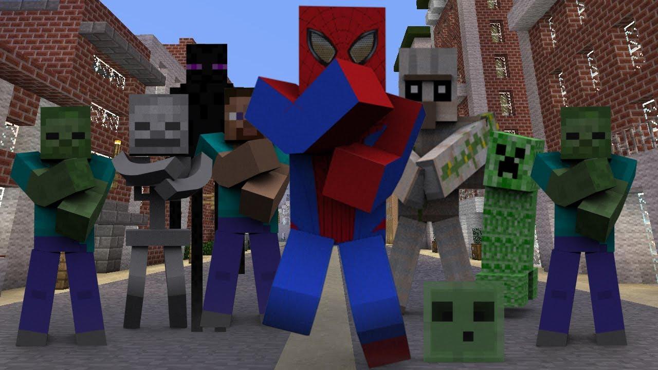 spiderman minecraft style remix 2013 psy 싸이 gangnam style 강남