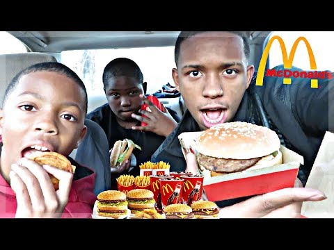 FUNNIEST MCDONALDS MUKBANG  w/ BAD LIL KIDS😂 (THEY EXPLAIN WHAT THEY WANT FOR CHRISTMAS)