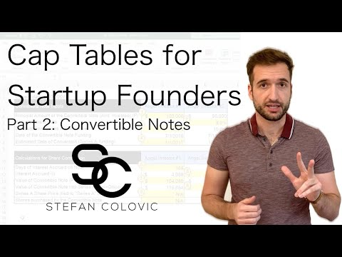 Cap Tables for Startup Founders Part 2: Convertible Notes
