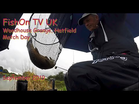 FishOn TV UK, CATCHING IN A DOWNPOUR At Woodhouse Grange.  September 2019.  S01E02.