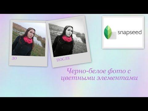 Snapseed : черно-белое фото с цветным объектом #2