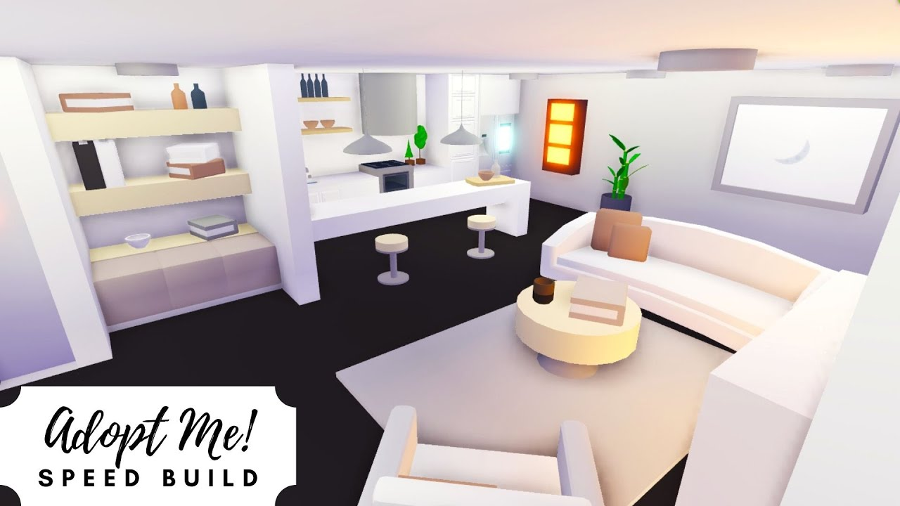Shop House Part 2 Neutral Modern Home Speed Build Roblox Adopt Me Youtube