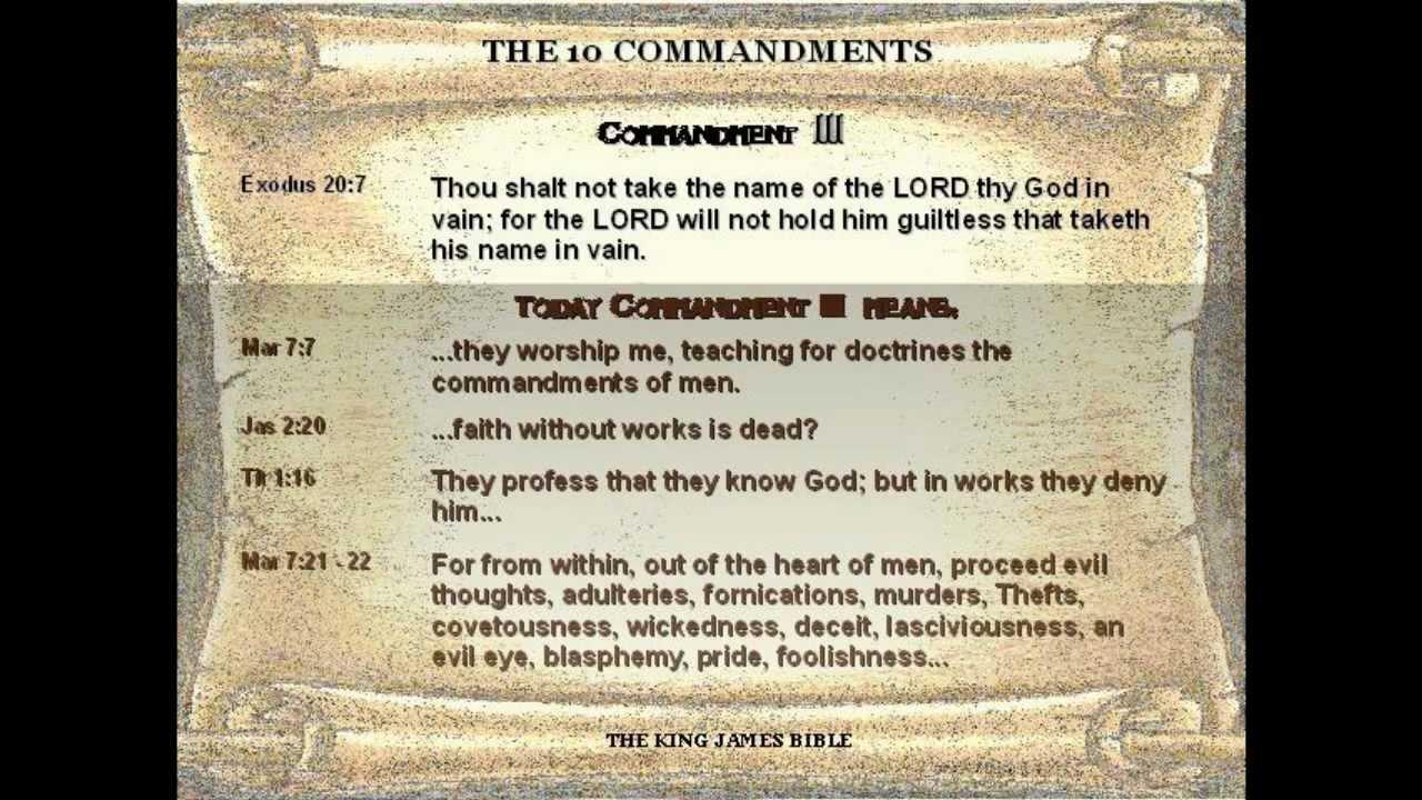 The Real Ten Commandments - Version 1 #1
