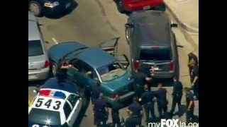 Impresionante Persecucion Policiaca en Los Angeles, California