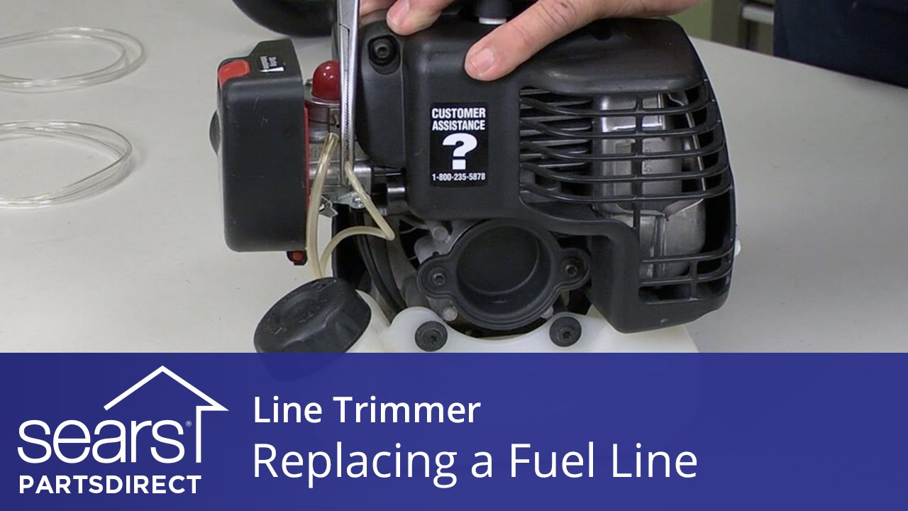 how to replace the fuel line in a line trimmer sears partsdirect [ 1280 x 720 Pixel ]