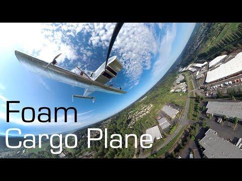 RCTESTFLIGHT - Huge RC Foam Cargo Plane 1st Flight