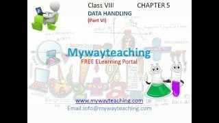 math class 8 chapter 5 part vi  data handling for class 8