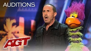 Michael Paul And His Hilarious Bird Of Prey Earn A YES! - America's Got