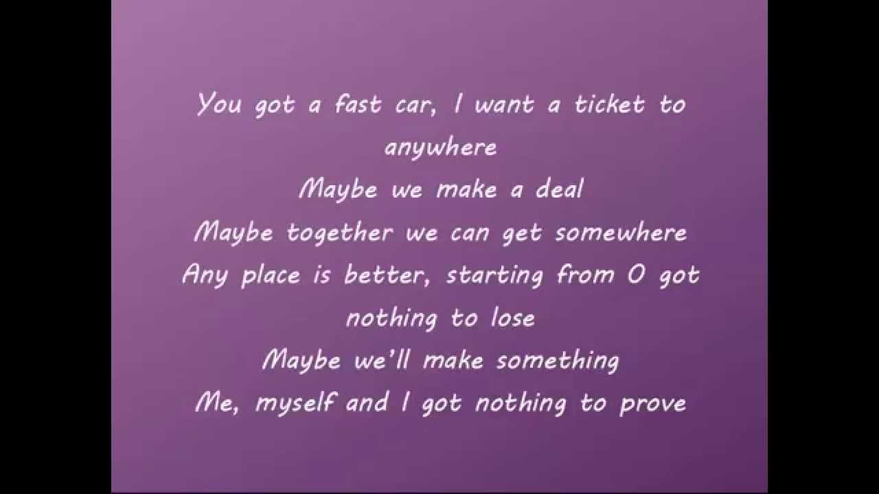 Fast Car (BBC Radio 1 Live Lounge Cover