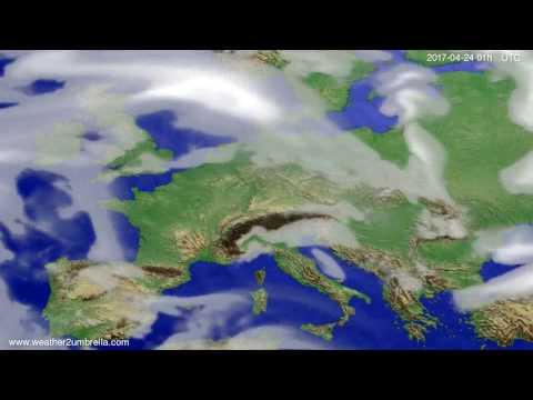 Cloud forecast Europe 2017-04-21