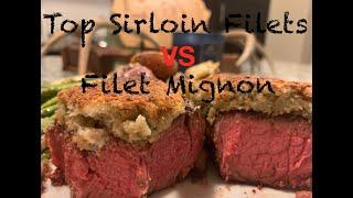 Top Sirloin Filet vs Filet Mignon  Smoked and Reverse Seared