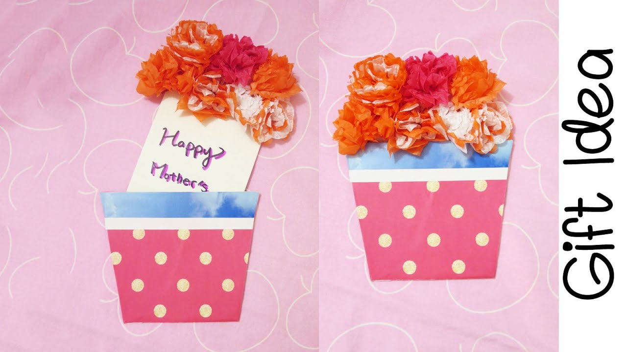Gift Idea Diy Flower Bouquet Gift Card Sunny Diy Youtube