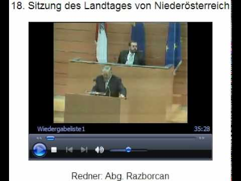 FPÖ NÖ Karl Schwab in der Sitzung des NÖ Landtags ...