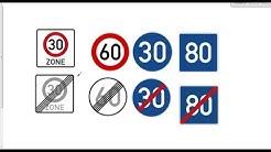 Unterschied: Richtgeschwindigkeit, Höchstgeschwindigkeit, Mindestgeschwindigkeit