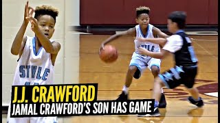Jamal Crawford's 9 Year Old Son Plays JUST LIKE HIM! NASTY HANDLES & Jumper!! JJ Crawford!