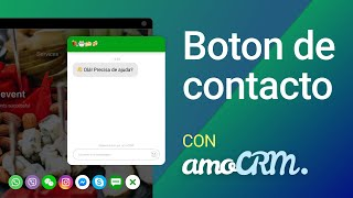 Botón de contacto | Ventas conversacionales amoCRM