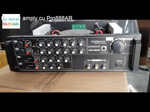 Thanh lý amply california Pro-888AR    900k