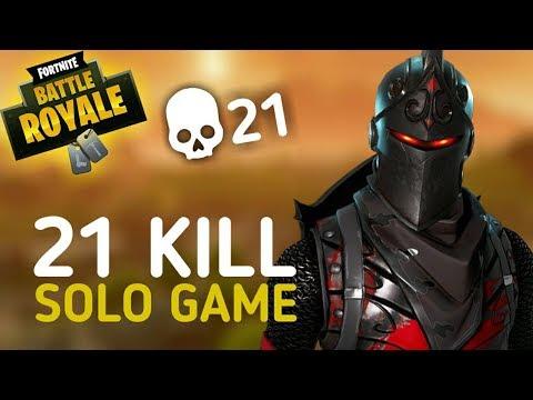Fortnite Battle Royale 21 KILL SOLO GAME (PS4)