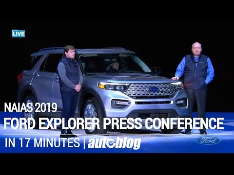 2020 Ford Explorer Press Conference in 17 minutes | NAIAS 2019