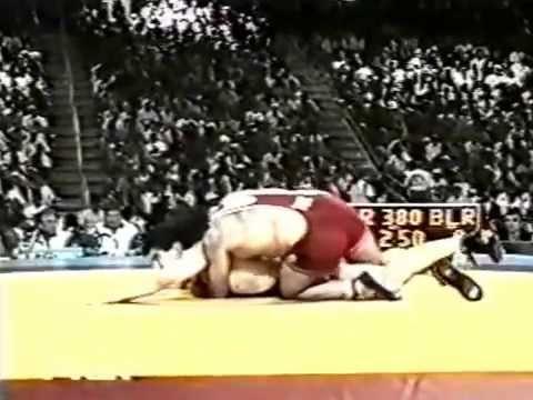 Demir,Mahmut (TUR) - Baumgartner,Bruce (USA) 130 kg.Final.1996 Olympiyskie igri Atlanta