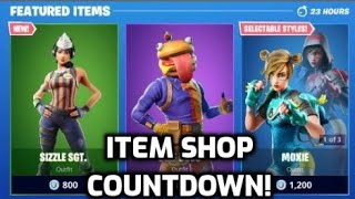 *NEW* Fortnite Sizzle SGT Skin! (Item Shop Countdown Live)
