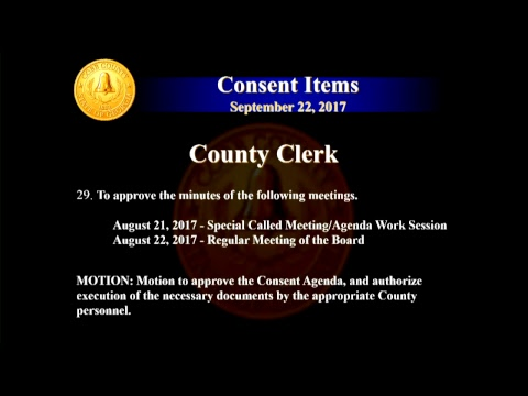 Cobb County Board of Commissioners Meeting - 09/22/17