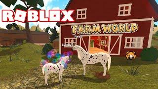 RUOLO della famiglia DI cavalli ROBLOX FARM MONDO con la sorellina - nuovo gatto, Guinea Pig - Gioco Glitch