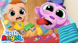 No, No Baby Monkey, Be Nice! | Little Angel Kids Songs & Nursery Rhymes
