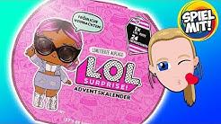 LOL Surprise ADVENTSKALENDER 2018 deutsch   Wir öffnen alle 24 Türchen! 1 süße Puppe +24 Accessoires