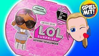 LOL Surprise ADVENTSKALENDER 2018 deutsch | Wir öffnen alle 24 Türchen! 1 süße Puppe +24 Accessoires