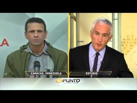 Jorge Ramos entrevista con Henrique Capriles sobre el referendo revocatorio