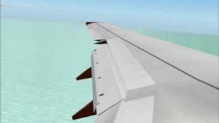 Fs2004 Landing with easyJet 737-700