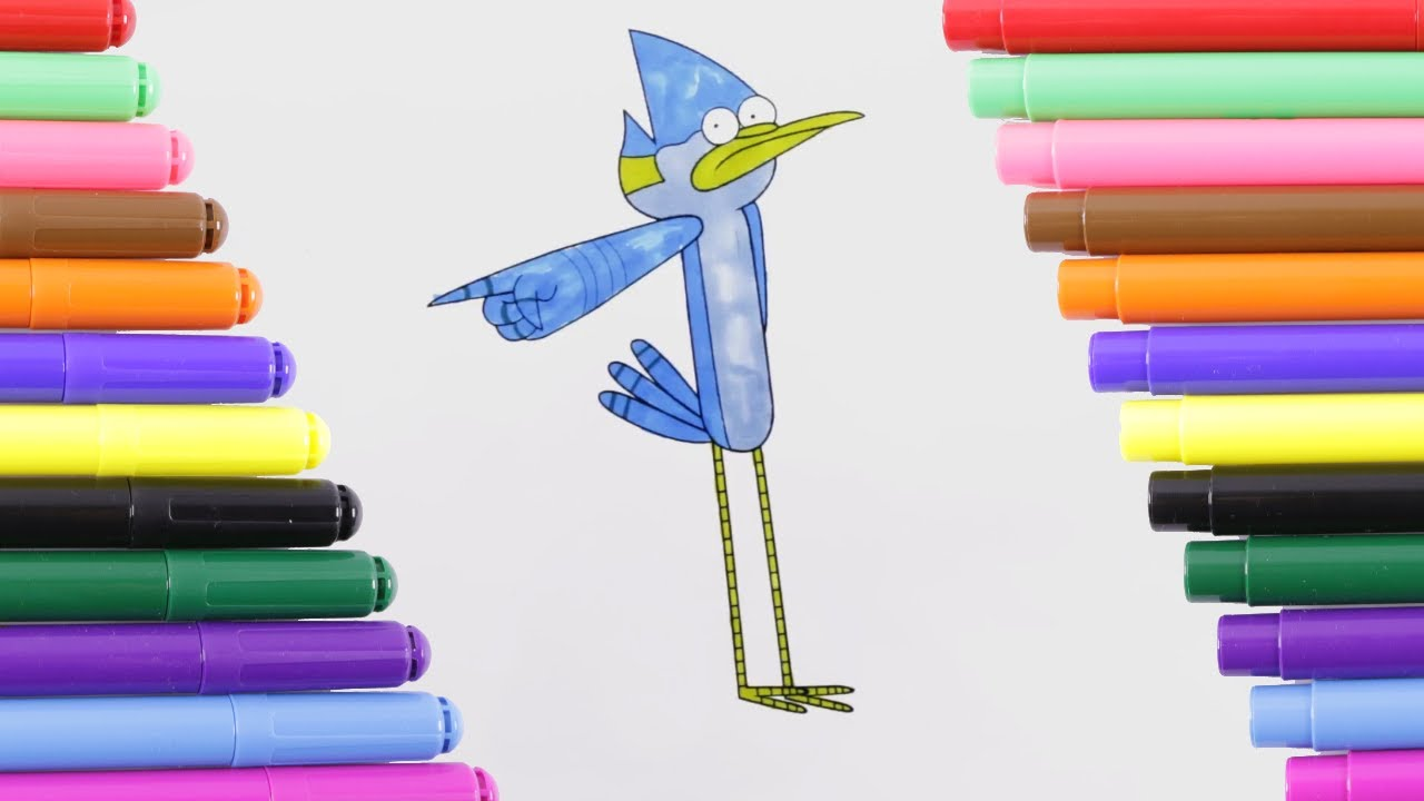 Regular Show Mordecai Coloring Page for Kids, Coloring Book - YouTube