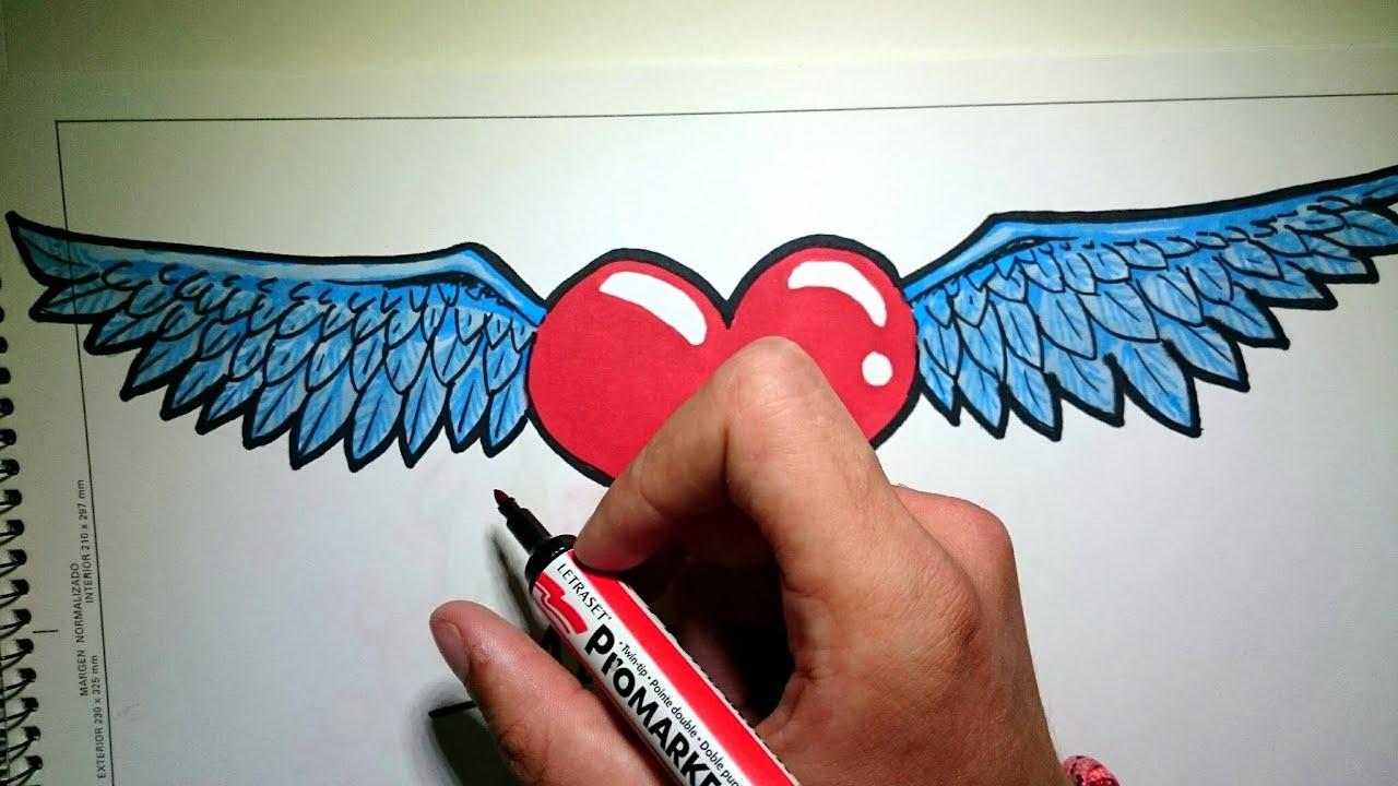 Corazones Lapiz De Dibujos