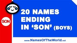 20 boy names ending in SON - the best baby names - www.namesoftheworld.net
